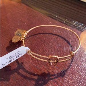 NWT Alex+Ani gold horseshoe slider bracelet
